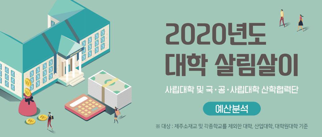 [2020년도 대학 살림살이] 2020회계연도 예산 분석